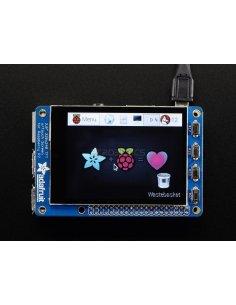 "PiTFT Plus 320x240 2.8"" TFT + Capacitive Touchscreen - Assembled (Pi 2, Model A+ / B+)"