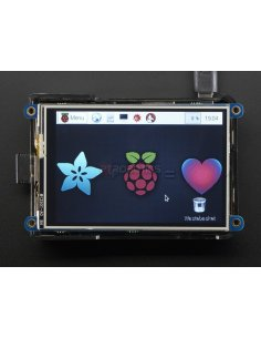 """PiTFT Plus 480x320 3.5"""" TFT+Touchscreen for Raspberry Pi (Pi 2 and Model A+ / B+)"""