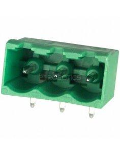 Terminal Block Socket 3Way Green