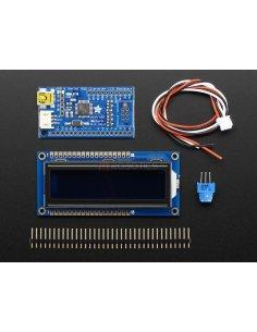USB + Serial Backpack Kit with 16x2 RGB backlight negative LCD (RGB on Black)