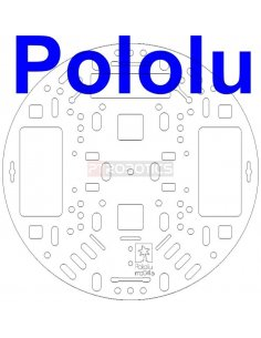 """Pololu 5"""" Robot Chassis RRC04A Transparent Clear"""
