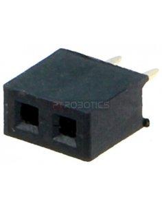 PCB Socket 2Pin 2mm Single Row