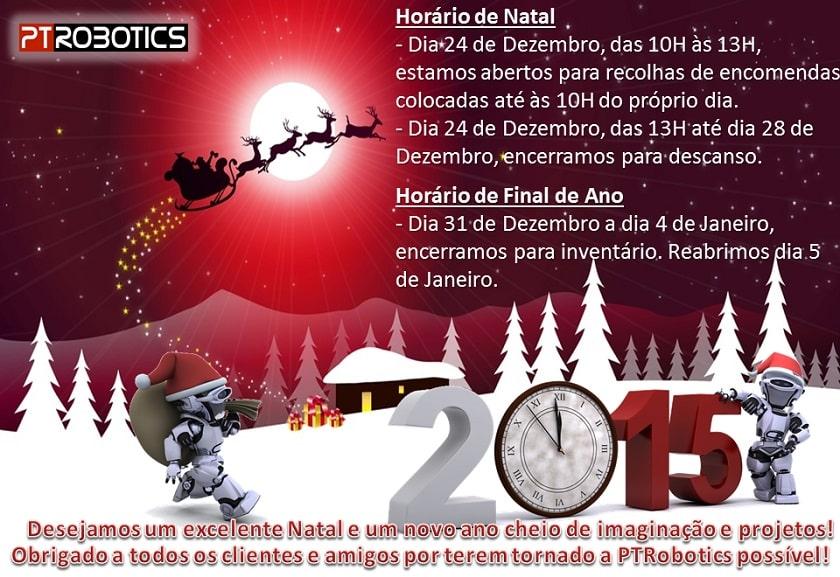 PTRobotics - Horário de Natal e ano Novo 2014