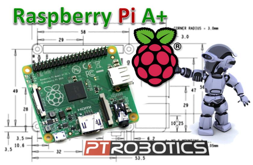 Raspberry A+ na PTRobotics
