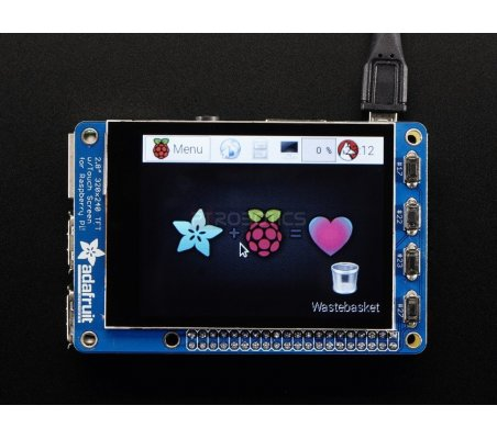 "PiTFT Plus 320x240 2.8"" TFT + Capacitive Touchscreen - Assembled (Pi 2, Model A+ / B+) Adafruit"