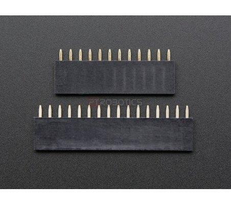 Feather Header Kit - 12-pin and 16-pin Female Header Set Adafruit