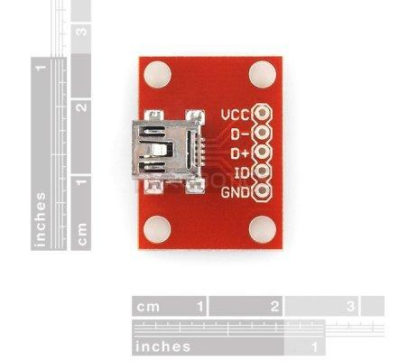 SparkFun USB Mini-B Breakout | Conversores | Sparkfun