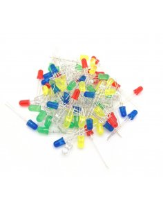 100 Package Led - Red, Blue, Green, Yellow and White