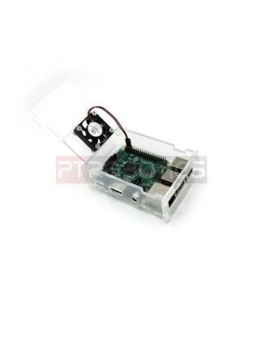 Transparent Acrylic Case+Cooling Fan for Raspberry Pi 3/2/B | Caixas Raspberry pi | Itead