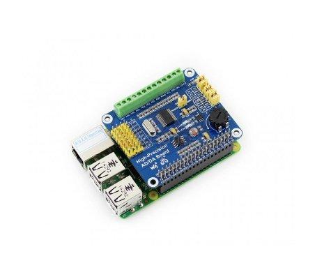 Raspberry Pi High-Precision AD/DA Expansion Board | HAT | Placas de Expansão Raspberry Pi | Waveshare