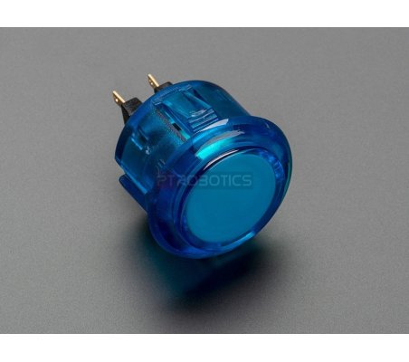 Arcade Button - 30mm Translucent Blue Adafruit