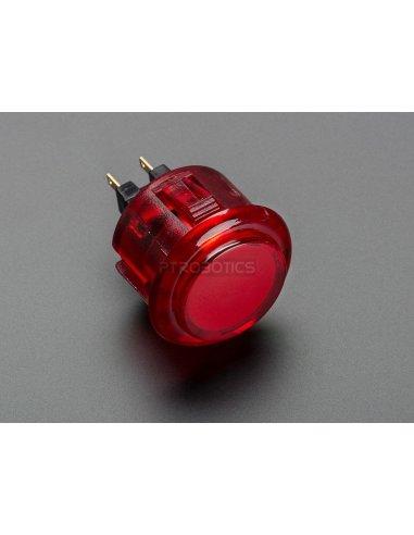 Arcade Button - 30mm Translucent Red | Arcade | Adafruit