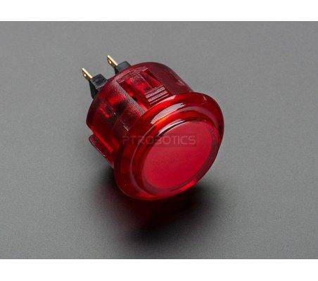Arcade Button - 30mm Translucent Red   Arcade   Adafruit
