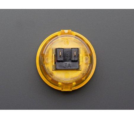 Arcade Button - 30mm Translucent Amarelo | Arcade | Adafruit