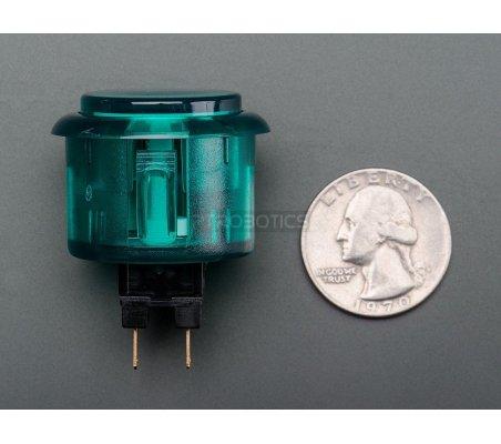 Arcade Button - 30mm Translucent Green Adafruit