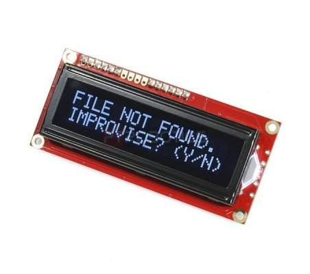 SparkFun Serial Enabled 16x2 LCD - Branco on Black 3.3V | LCD Alfanumerico | Sparkfun
