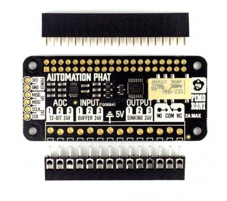 Automation pHAT | HAT | Placas de Expansão Raspberry Pi | Pimoroni
