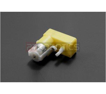 TT Geared Motor with Back Shaft (180rpm 6v L Shape)   Motor DC com Engrenagens   DFRobot