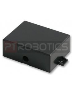 Flanged Black ABS Enclosure 88X68X33mm