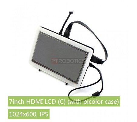 7inch HDMI LCD (C) + Bicolor case Waveshare