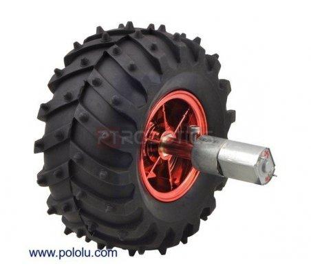 Dagu Wild Thumper Wheel 120x60mm Pair with 4mm Shaft Adapters - Metallic Red | Rodas para Robôs | Pololu