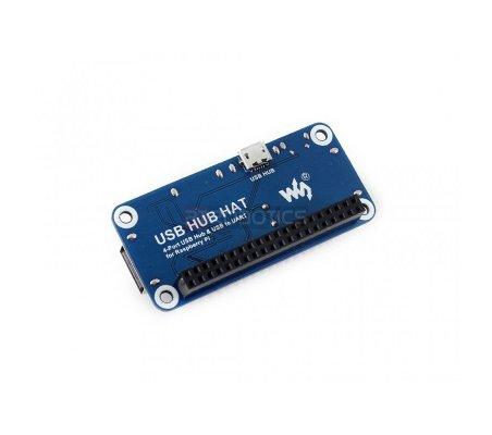 4 Port USB HUB HAT for Raspberry Pi   HAT   Placas de Expansão Raspberry Pi   Waveshare