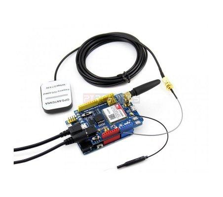 GSM/GPRS/GPS Shield w/ EU plug power adapter | GPS | Waveshare