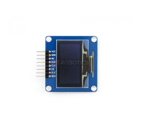 1.3inch OLED w/ SPI/I2C interfaces and horizontal pinheader Waveshare