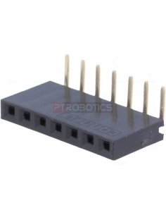 PCB Socket 7Pin 90º Single Row