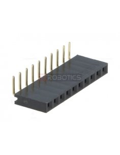 PCB Socket 10Pin 90º Single Row