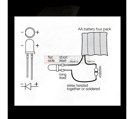 Kit Leds 3mm Vermelhos PTRobotics