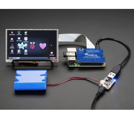 PowerBoost 1000 Charger - Rechargeable 5V Lipo USB Boost @ 1A (1000C) | Carregador de Baterias | Adafruit