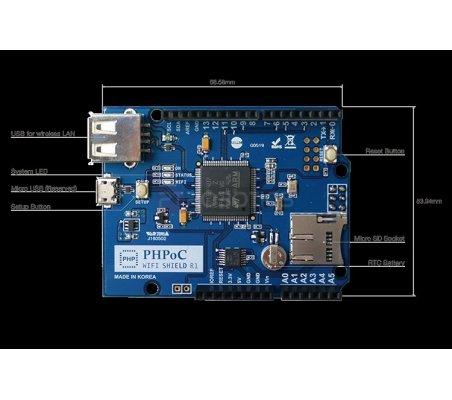 PHPoC WiFi Shield for Arduino | Comunicação Arduino | Sollae Systems