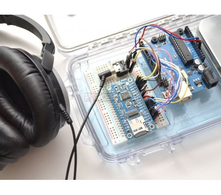 VS1053 Codec + MicroSD Breakout - MP3/WAV/MIDI/OGG Play + Record (v4)   Modulo de som   Adafruit