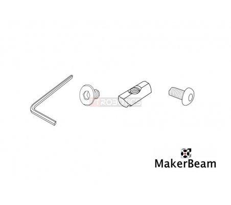 25 pieces T-slot nuts for MakerBeam | Makerbeam | Makerbeam