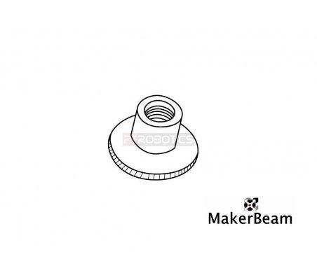 MakerBeam Knurled nuts - Pack of 4   Makerbeam   Makerbeam