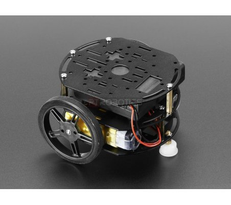 Mini 3-Layer Round Robot Chassis Kit - 2WD with DC Motors | Chassi de Robo |