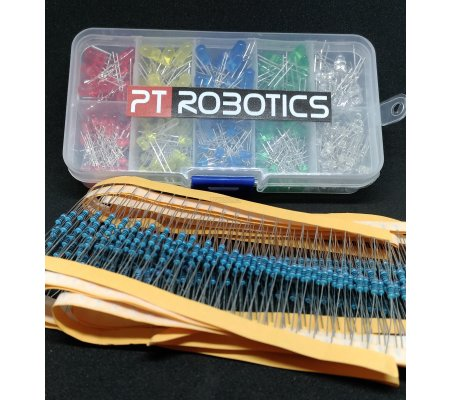 PTRobotics Led and Resistor Kit - 600pcs | Diodo Emissor de Luz |