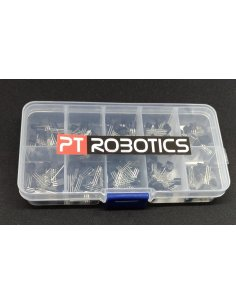 PTRobotics Transistor Assortment Kit w/ Box - 200pcs