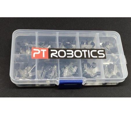 PTRobotics Transistor Assortment Kit w/ Box - 200pcs | Transistores |