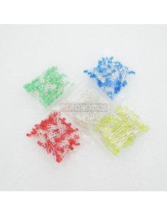 PTRobotics 3mm Led 500pcs Kit - Red, Blue, Green, Yellow and White