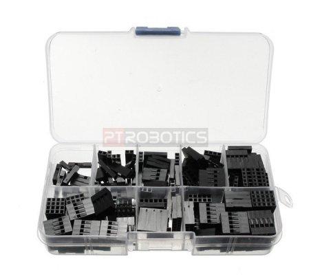 2.54mm Plastic Dupont Jumper Wire Kit w/ Box - 150pcs | Headers e Sockets |
