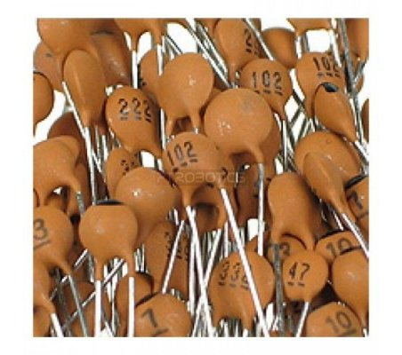 PTRobotics Ceramic Capacitor Kit - 300pcs | Condensador Cerâmicos |