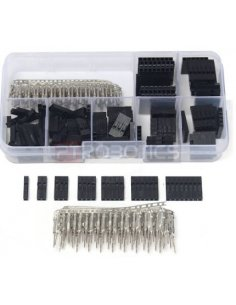 2.54mm Male Female Dupont Wire Jumper With Header Connector Housing Kit w/ Box - 310Pcs