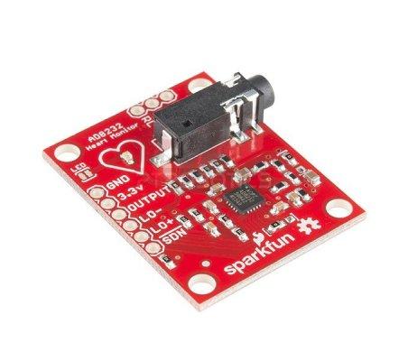 SparkFun Single Lead Heart Rate Monitor - AD8232 | Biométrica | Sparkfun