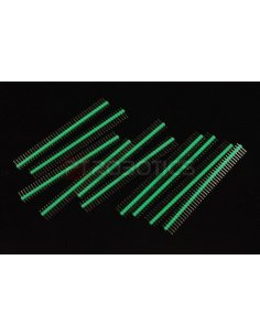 PCB Header 40Pin Single Row - Green