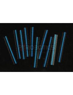 PCB Header 40Pin Single Row - Blue