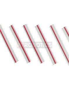 PCB Header 40Pin Single Row - Red