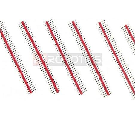 PCB Header 40Pin Single Row - Red