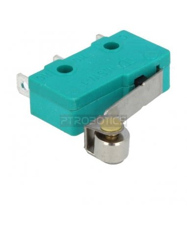 Microswitch 5A Roller Verde